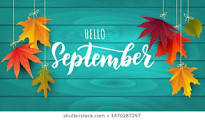 Hello September and autumn leaves